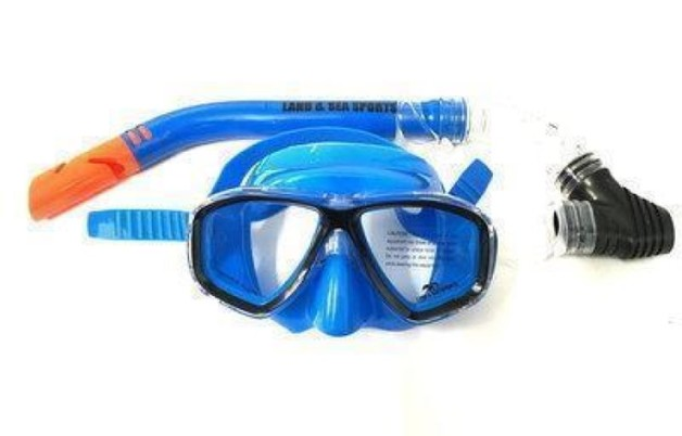 Land & Sea Clearwater Blue Mask/Snorkel Set
