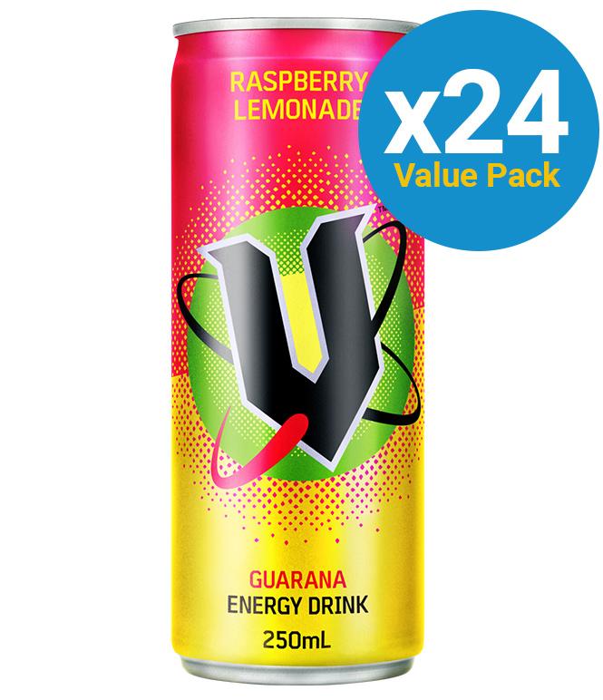V Raspberry Lemonade 250ml (24 Pack) image