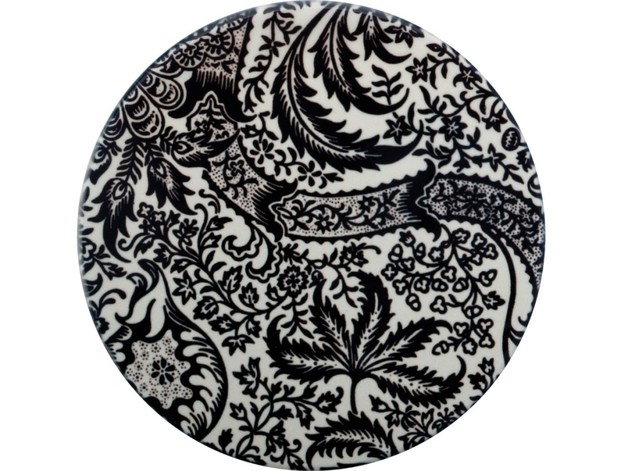 Casa Domani: William Morris Ceramic Coaster (Black Seaweed)