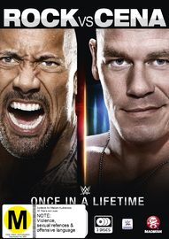 WWE: The Rock Vs. John Cena: Once In A Lifetime on DVD