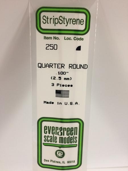 Evergreen Styrene Quarter Round-2.50 mm (3)