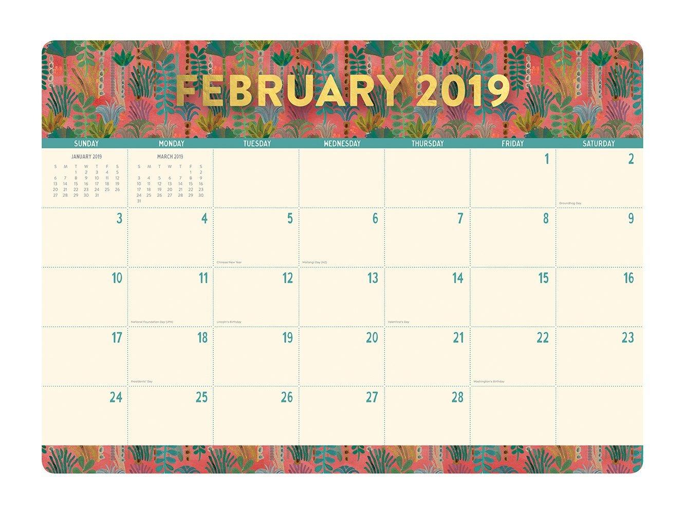 Justina Blakeney: Botanicals 2019 Desk Blotter Planner image
