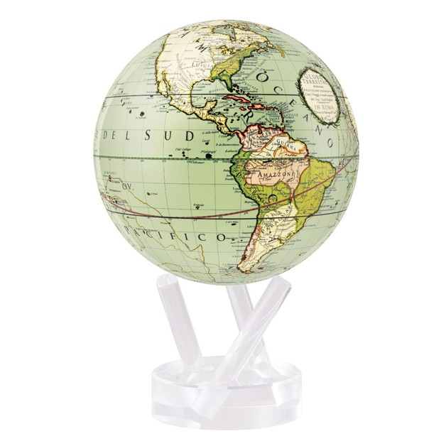 MOVA: Self Rotating Globe - Green Cassini Terrestrial (11.5cm)