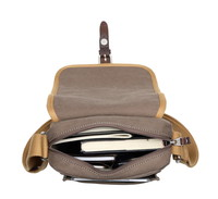 Troop London: Savanna Shoulder Bag - Washed Brown & Mustard image