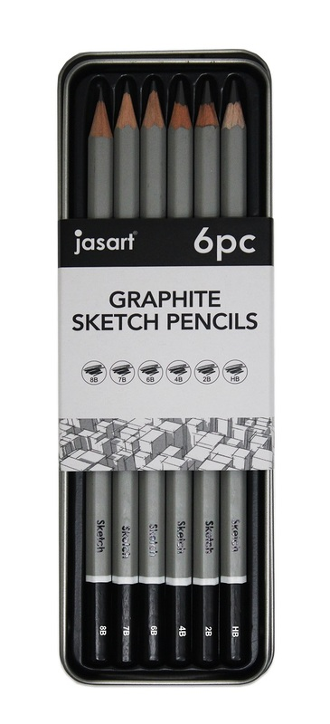 Jasart: Sketching Pencil - Tin of 6