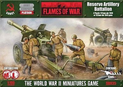 Flames of War: Reserve Artillery Battalion