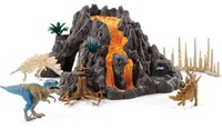 Schleich - Giant Volcano With T-Rex