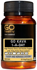 Go Healthy GO Kava 1-A-Day (30 Capsules)