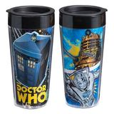 Doctor Who Comic Book Plastic Travel Mug