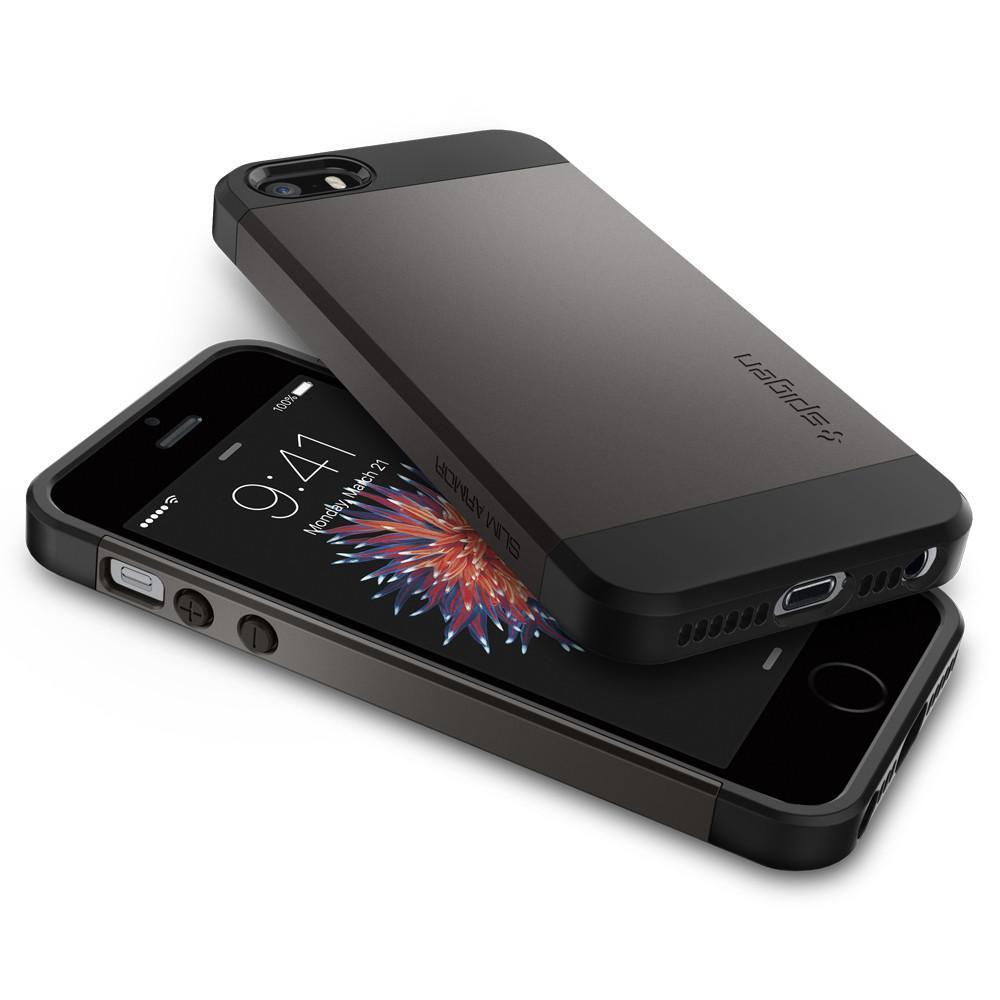 Spigen: iPhone SE/5s/5 Slim Armour Case - (Gunmetal) image