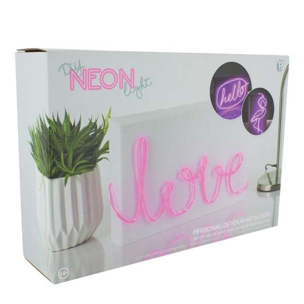 DIY Neon Light Pink