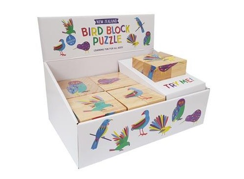 NZ Gift: Block Puzzle - NZ Birds