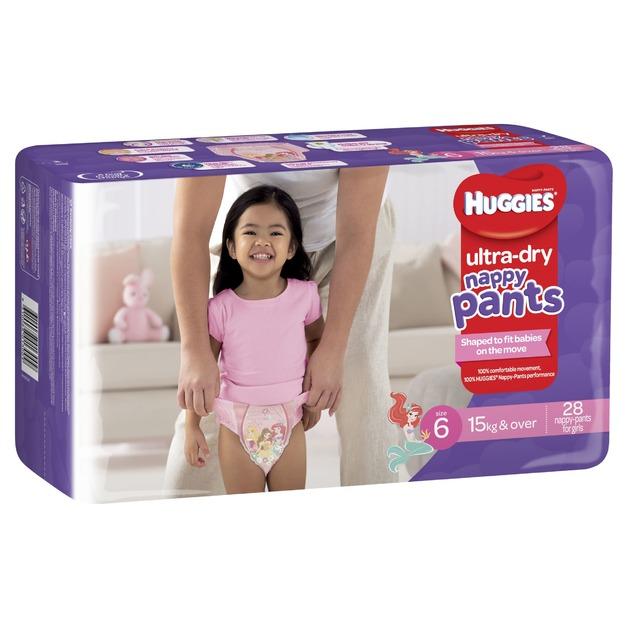 Huggies: Ultra Dry Nappy Pants Bulk - Size 6 Junior Girl (28)