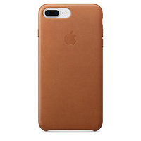 iPhone 8 Plus Leather Case - Saddle Brown