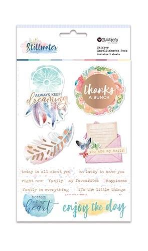 Rosie's Studio: Sticker Embellishment Pack - Stillwater (65-pk)