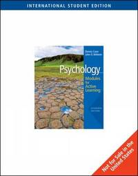 Psychology: Modules for Active Learning with Concept Modules: WITH Note-taking AND Practice Exams by Dennis Coon image