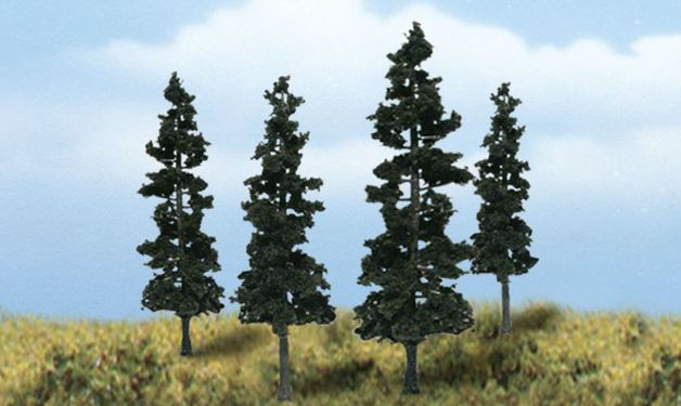 Woodland Scenics Conifer Trees (4 pack)