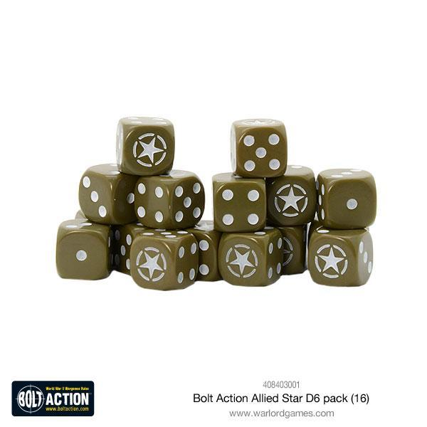 Bolt Action Allied Star D6 pack (16)