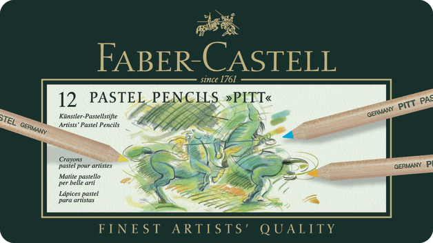 Faber-Castell: Pitt Pastel Pencil (Tin of 12)