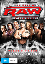 WWE - The Best Of Raw: 15th Anniversary - 1993-2008 (3 Disc Set) on DVD