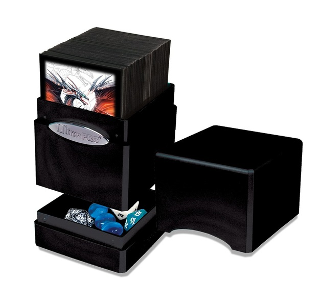 Ultra Pro: Hi-Gloss Satin Tower Deck Box - Midnight