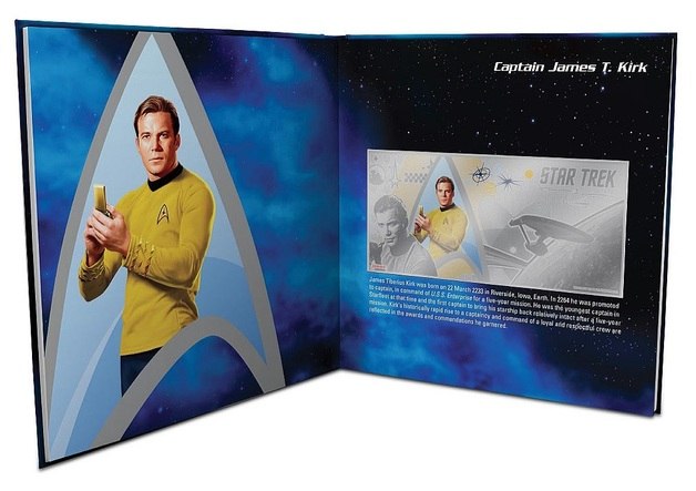 NZ Mint: Star Trek - Silver Coin Note & Album - Captain Kirk 2018 (5g Silver)