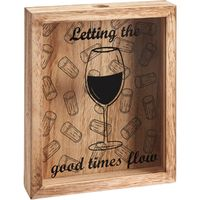 Cork Collector Art Plaque - Let the Good Times Flow
