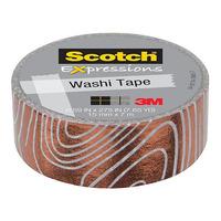 Scotch Expressions: Foil Washi Tape - Swirl (15mm x 7m)