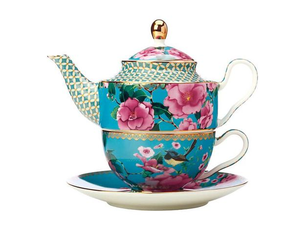 Maxwell & Williams Teas & C's: Silk Road Tea For One With Infuser - Aqua