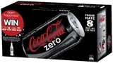 Coke Zero Soft Drink Cans - 8 Pack (355ml)