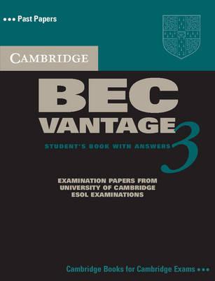 Cambridge BEC Vantage 3 Self Study Pack by Cambridge ESOL