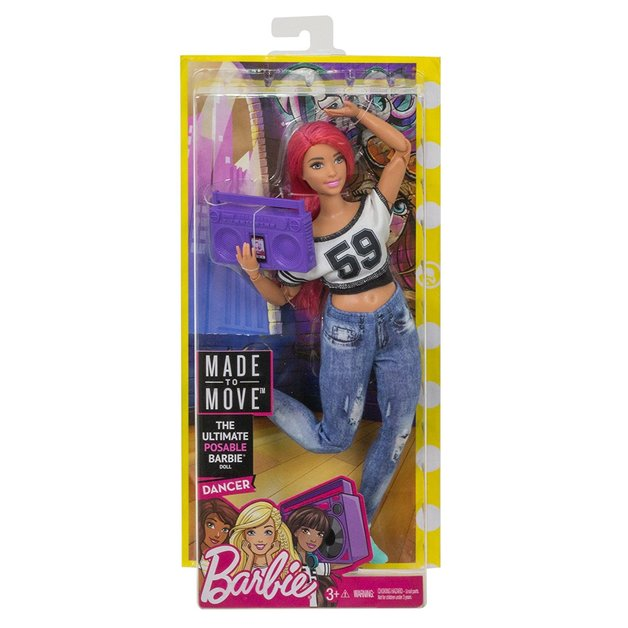 Barbie: Made to Move - Dancer Doll (Pink)