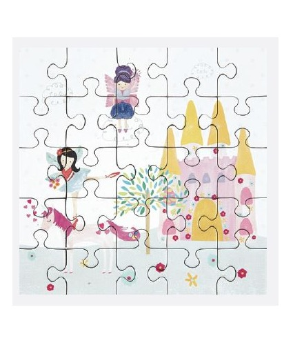 Floss & Rock: 25-Piece Mini Jigsaw Puzzle - Fairy Unicorn