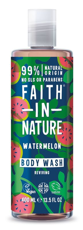 Faith In Nature: Reviving Watermelon Body Wash (400ml)