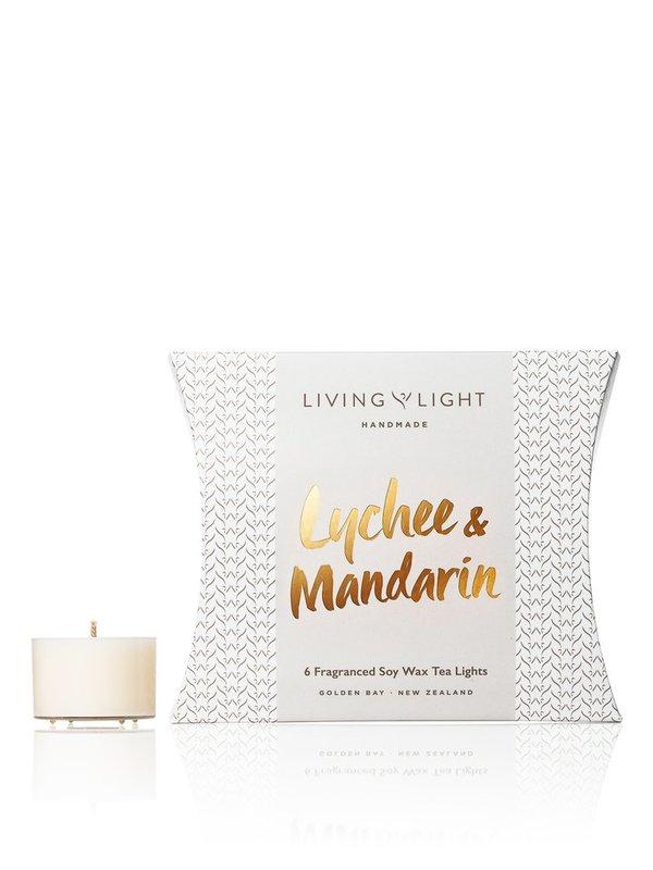 Living Light: Soy Tealights (Lychee & Mandarin)