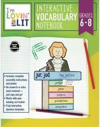 I'm Lovin' Lit Interactive Vocabulary Notebook, Grades 6 - 8 by Erin Cobb