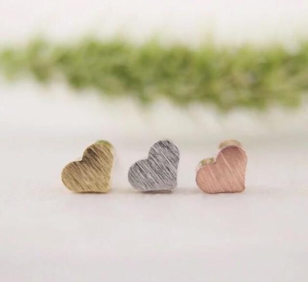 Katy B Jewellery: Mini Heart Earring - RoseGold