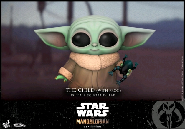 Star Wars: The Mandalorian - The Child (with Frog) - Cosbaby Figure