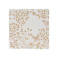 Splosh: Full Bloom Light Gold Ceramic Coaster image