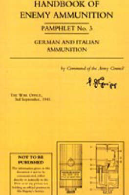 Handbook of Enemy Ammunition Pamphlet: No. 3 by War Office image