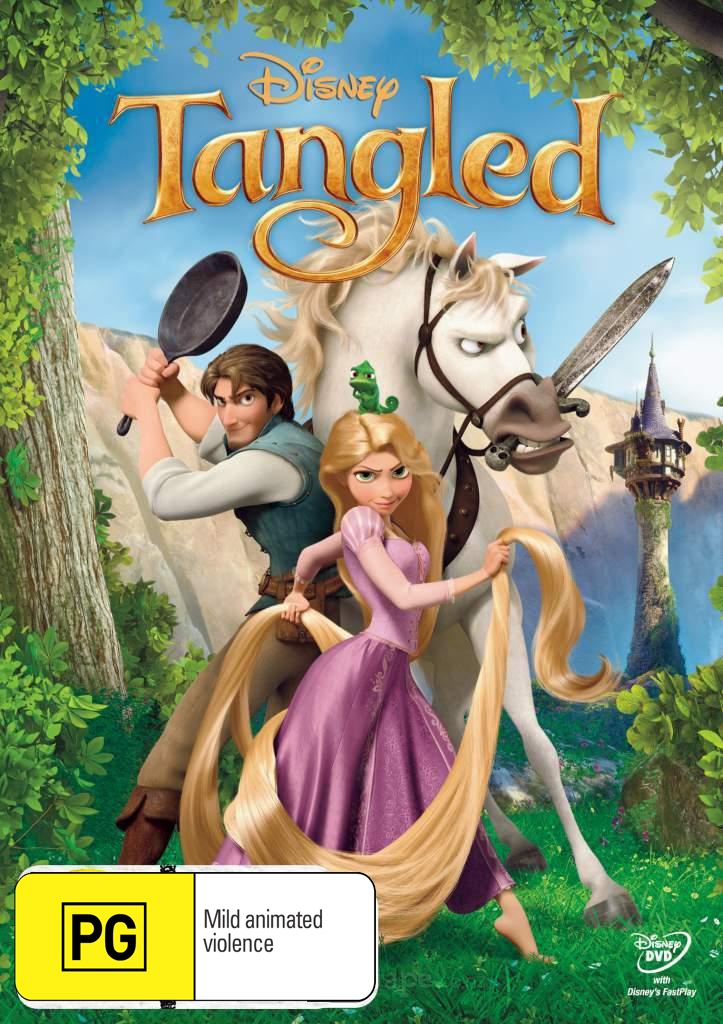 Tangled on DVD image