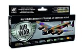 Vallejo RAF & FAA Bomber Air Command & Training Air 1939-45 Paint Set