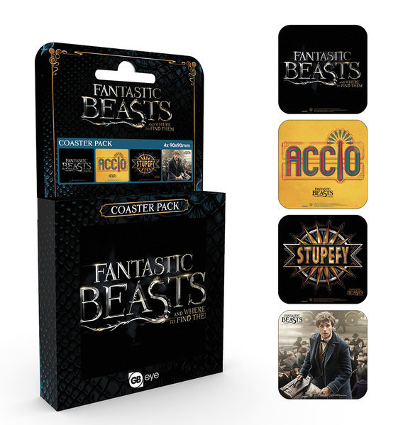Fantastic Beasts Coasters (4-pack)