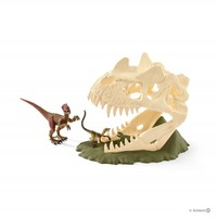 Schleich: Large Skull Trap With Velociraptor