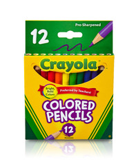 Crayola: 12 Half Size Coloured Pencils