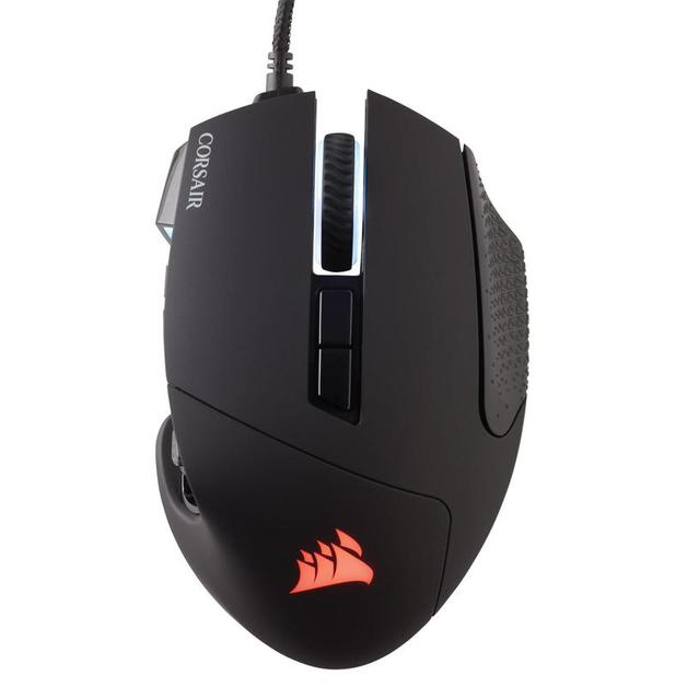 Corsair Scimitar Elite RGB MMO Gaming Mouse - Black for PC