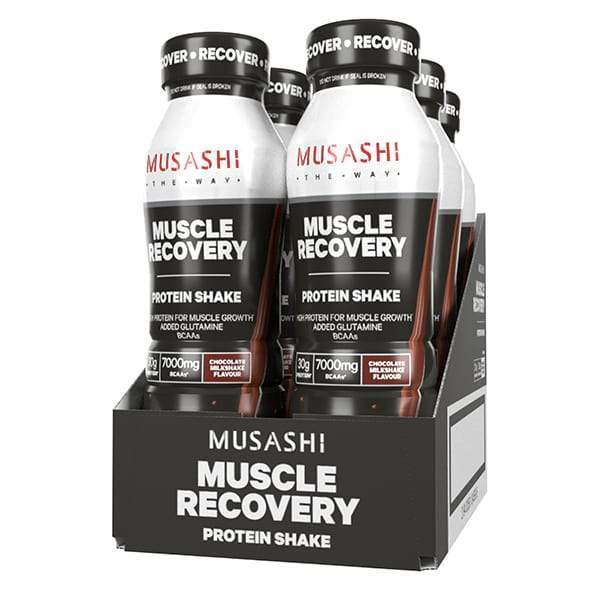 Musashi Muscle Recovery Protein RTD Shake - Vanilla (Pack of 6)