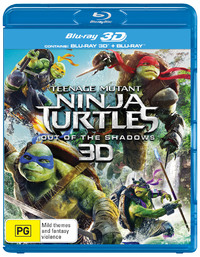 Teenage Mutant Ninja Turtles: Out of the Shadows on Blu-ray, 3D Blu-ray