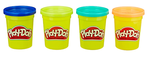 Play Doh: Wild Colours - 4 Pack