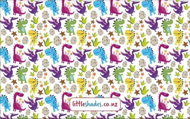 Little Shades: Window Shade - Dino Buddies